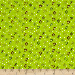 QT Fabrics Patchwork Farms Small Flower Lime Fabric