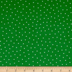 QT Fabrics Patchwork Farms Dots Green Fabric