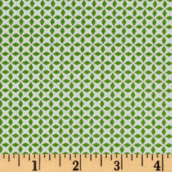 QT Fabrics Patchwork Farms Geo Grid Green Fabric