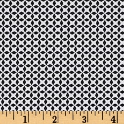 QT Fabrics Patchwork Farms Geo Grid Black Fabric