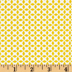 QT Fabrics Patchwork Farms Geo Grid Sunflower Fabric