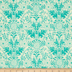 Ink & Arrow Hayden Lyla Damask Cream/Aqua Fabric