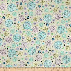 Ink & Arrow Hayden Dotted Circles Cream Fabric
