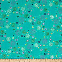 Ink & Arrow Hayden Dotted Circles Aqua Fabric