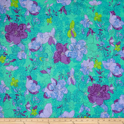 Ink & Arrow Hayden Floral Paisley Aqua Fabric