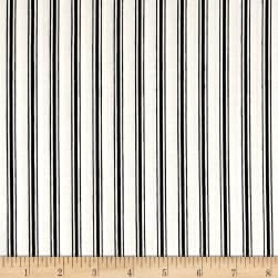 Hatters Tea Party Ticking Stripe Black