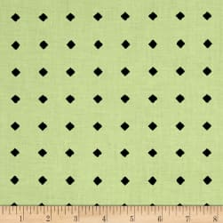 QT Fabrics Hatters Tea Party Diamond Dot Light