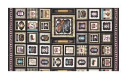 Home Sweet Home Home Sweet Home Small Patch 19'' Panel Black Fabric