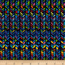 Party Animals Broken Chevron Stripe Black