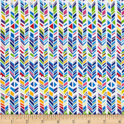 Party Animals Broken Chevron Stripe White