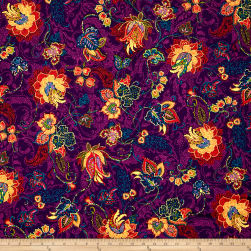 Ink & Arrow Ashtyn Dotted Jacobean Plum Fabric