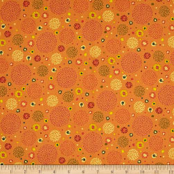 Ink & Arrow Ashtyn Dotted Circles Orange Fabric