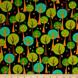 Quilting Treasures On The Road Trees Black Fabric