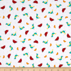 Quilting Treasures On The Road Birds White Fabric