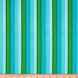 Quilting Treasures On The Road Ribbon Stripe Blue Fabric