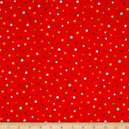 QT Fabrics On The Road Dots Tomato Fabric