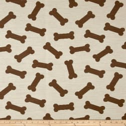 Crypton Home Dog Bones Jacquard Natural Fabric