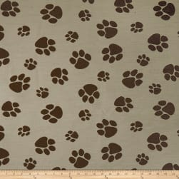 Crypton Home Pet Paws Jacquard Natural Fabric