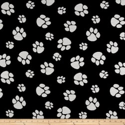 Crypton Home Pet Paws Jacquard Black Fabric