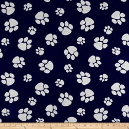 Crypton Home Pet Paws Jacquard Denim Fabric