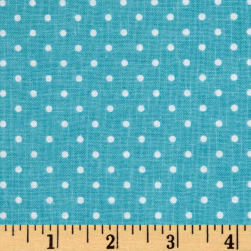 Riley Blake Swiss Dot Peacock Fabric