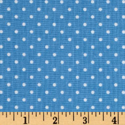 Riley Blake Swiss Dot Medium Blue Fabric
