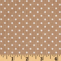 Riley Blake Swiss Dot Nutmeg Fabric