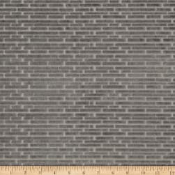 Fabricut Brick Wall Velvet Grey Fabric