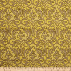 Collier Campbell Brocade Modern Gold Fabric