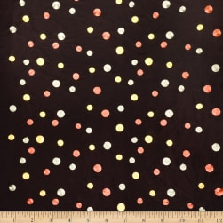 Collier Campbell Coil Dots Faux Silk Chocolate Fabric