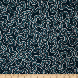 Fabricut Filter Waves Navy