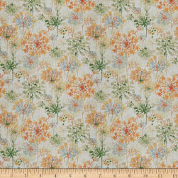 Fabricut Make Up Floral Orange Blossom