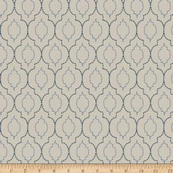 Trend 04256 Faux Silk Blue Ivory Fabric