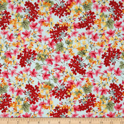 Penny Rose Farmhouse Floral Blue Fabric