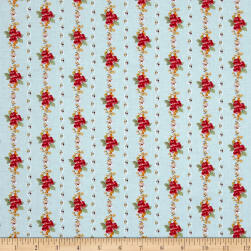 Penny Rose Farmhouse Stripe Blue Fabric