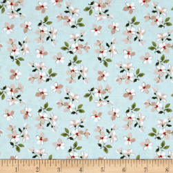 Penny Rose Farmhouse Toss Blue Fabric