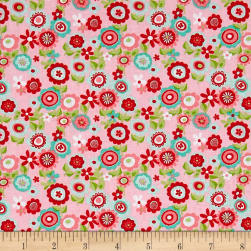 Riley Blake Butterflies & Berries Floral Butterflies Pink