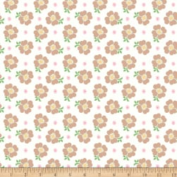 Riley Blake Bake Sale 2 Floral White Fabric