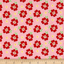 Riley Blake Bake Sale 2 Floral Pink Fabric