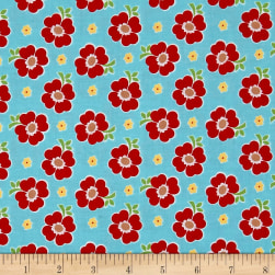 Riley Blake Bake Sale 2 Floral Aqua Fabric