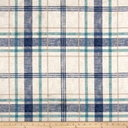 Richloom Lawson Velvet Plaid Wave Fabric