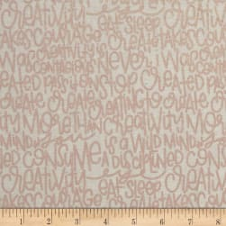 Riley Blake Text Sparkle Rose Gold Metallic Fabric
