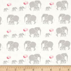 Riley Blake Safari Party Elephants White