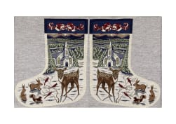 Holiday Joy Jacquard Easy Sew Stocking Panel Deer