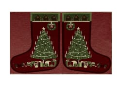 "Holiday Joy Jacquard Easy Sew Stocking Template Panel Christmas Tree 27"" X 18.8"""