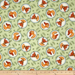 Disney Bambi Badge Green Fabric