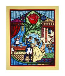 Disney Beauty & The Beast 36'' Panel Yellow Fabric