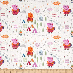 Peppa Pig Happy Forest White Fabric
