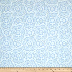 Riley Blake Blue Carolina Lace Blue Fabric