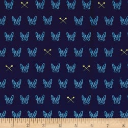 Riley Blake Blue Carolina Edie Navy Fabric